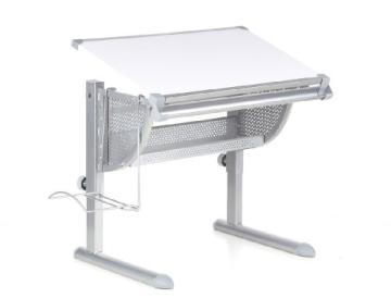 HJH Office 705100 Kinderschreibtisch Belia höhenverstellbar mit neigbar weiss / silber - 1