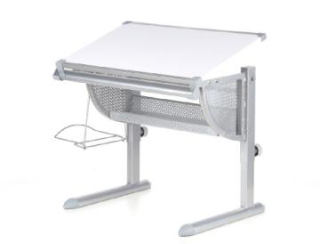 HJH Office 705100 Kinderschreibtisch Belia höhenverstellbar mit neigbar weiss / silber - 15