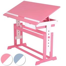 Kinderschreibtisch Schülerschreibtisch 109x55cm höhenverstellbar (Farbwahl) - 1