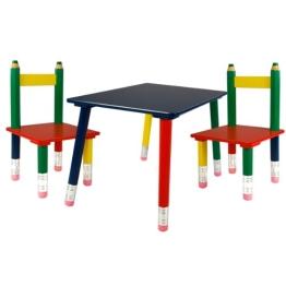Kindertischgruppe in Buntstift Design - 1