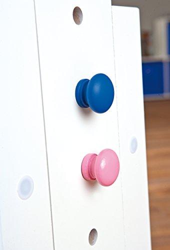 Links 40100500 Kinder-Schreibtisch Baru, MDF/Massivholz, hoehen- und neigungsverstellbar, 1 Schublade, 109 x 55 x 63/88 cm, weiß / rosa-blau - 3