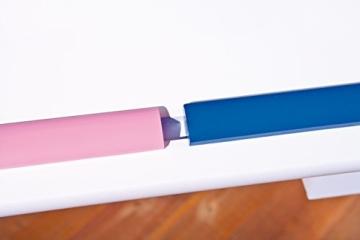Links 40100500 Kinder-Schreibtisch Baru, MDF/Massivholz, hoehen- und neigungsverstellbar, 1 Schublade, 109 x 55 x 63/88 cm, weiß / rosa-blau - 4