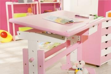 Links 99800350 Kinderschreibtisch Schülerschreibtisch Schreibtisch Kinderzimmer Tisch, rosa - 3