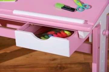 Links 99800350 Kinderschreibtisch Schülerschreibtisch Schreibtisch Kinderzimmer Tisch, rosa - 7