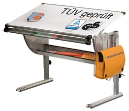 Links 99800650 TÜV-geprüfter (GS-Zeichen) Schreibtisch hhenverstellbar (62-93 cm) wei - 1