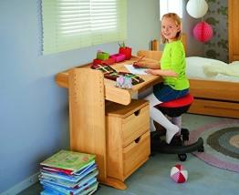 BioKinder 22811 Julia Spar-Set Kinderschreibtisch und Rollcontainer aus Massivholz Erle - 1