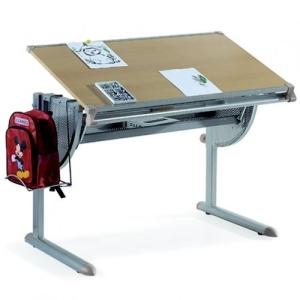 HJH Office 705150 Kinderschreibtisch, Nexus, höhenverstellbar/neigbar, buche / silber - 1