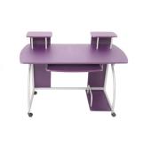 Jugend-Schreibtisch Computertisch Bürotisch Ohio, ca 90x115x55cm ~ lila - 1