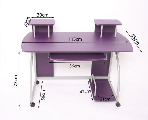 jugend schreibtisch computertisch b rotisch ohio ca 90x115x55cm lila 3 kinderschreibtisch. Black Bedroom Furniture Sets. Home Design Ideas