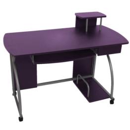Jugend-Schreibtisch Computertisch Bürotisch Ohio II, ca 90x115x55cm ~ lila - 1