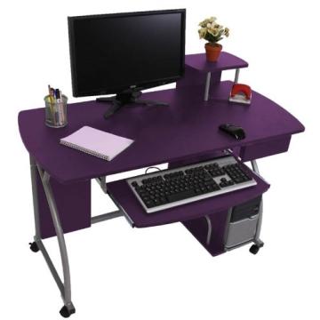 Jugend-Schreibtisch Computertisch Bürotisch Ohio II, ca 90x115x55cm ~ lila - 2