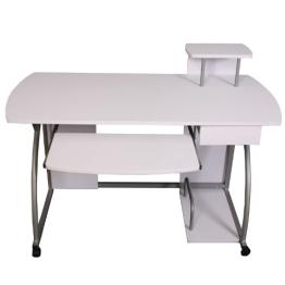 Jugend-Schreibtisch Computertisch Bürotisch Ohio II, ca 90x115x55cm ~ weiß - 1