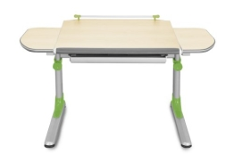 Kinderschreibtisch PROFI_3 höhenverstellbar Kunststoffteile grün - 1