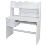 Kinderschreibtisch Schülerschreibtisch 108x59x128 cm Schreibtisch in Weiß - 1