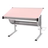Kinderschreibtisch Schülerschreibtisch Schreibtisch Oxford, höhenverstellbar, neigbar ~ pink/rosa - 1