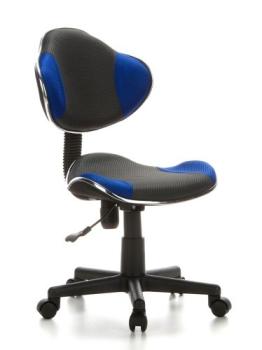 Kinderschreibtischstuhl / Kinderstuhl KIDDY GTI-2 Stoff grau / blau hjh OFFICE - 1