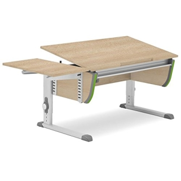 Moll Schreibtisch Joker   Eichedekor   Höhenverstellbar von 53- 82 cm   Kinderschreibtisch - 5
