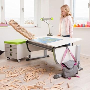Moll Schreibtisch Joker   Eichedekor   Höhenverstellbar von 53- 82 cm   Kinderschreibtisch - 6
