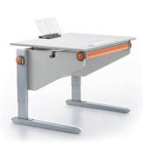 Moll Schreibtisch Winner Compact | Classic | weiß | Maße: B 91 × T 71 cm | höhenverstellbar - 1