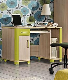 Schreibtisch Computertisch Kinderzimmer eiche milchig grün - 1