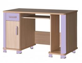 Schreibtisch Computertisch Kinderzimmer eiche milchig lila - 1