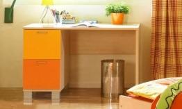 Schreibtisch Computertisch P5T55F24 Kinderzimmer ahorn gelb orange - 1