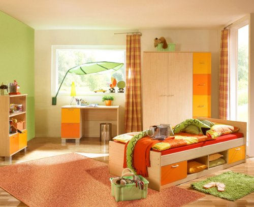 schreibtisch computertisch p5t55f24 kinderzimmer ahorn gelb orange 3 kinderschreibtisch. Black Bedroom Furniture Sets. Home Design Ideas
